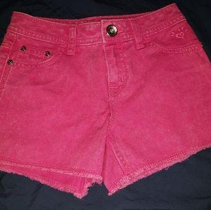 2/$10 Justice Pink Shorts Girls Size 12 Slim